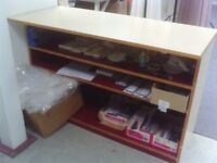 Wooden counter / display bench
