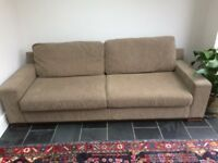 Deep Cosy Fabric Sofa Good Used Condition