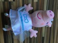Talking peppa pig plush ( as new)
