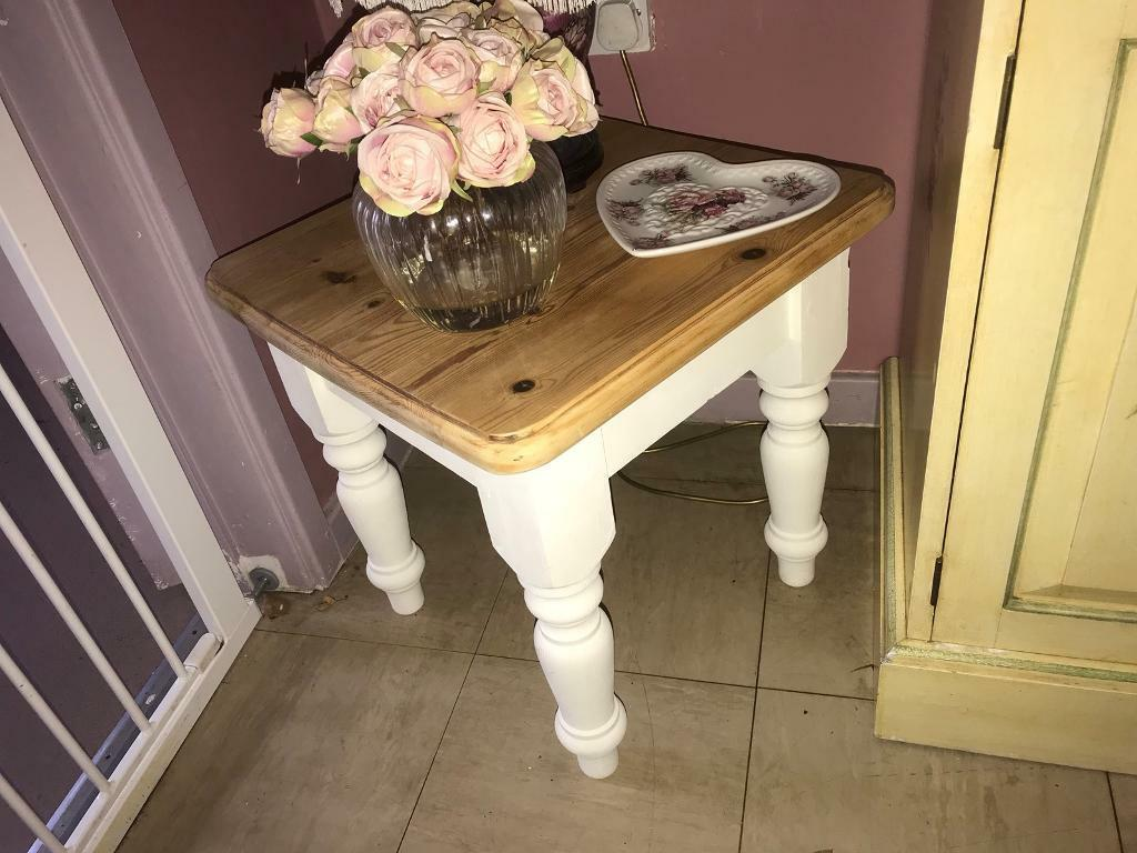 Solid pine side table