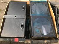 4 Stage lights with stand and cables