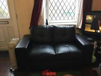 Free ! Leather 2 seater sofa