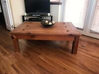 Mexican wood coffee table