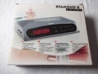 DIAMOND-8 RADIO ALARM CLOCK - NEW - STILL IN BOX