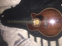 Hudson HF-SM semi acoustic guitar. Comes with stag soft case and capo. Great condition.