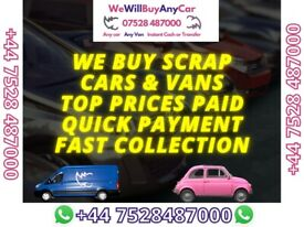SCRAP CARS WANTED 🔴ANY CONDITION 🔴NON-RUNNERS 🔴SELL MY CAR VAN 4X4 VEHICLE