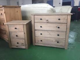 Panama 4 Drawer chest of drawers+Bedside cabinet