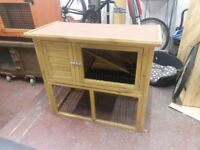 Rabbit hutch two tier in excellent condition