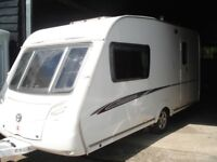 R&K CARAVANS 2009 SWIFT CHALLENGER 560 4 BERTH WITH ISLAND BED, 12 MONTHS WARRANTY