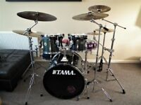 Tama Rockstar full drum kit with Cymbals and hardwre , RRP £975.00