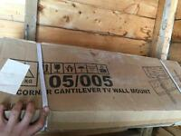 Tv corner wall bracket