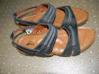 Brand New Flex&Go Leather Sandals - Dark Blue