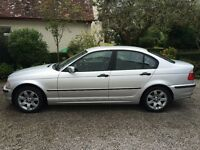 BMW 318i SE 4 Door Saloon 2001 Petrol, Silver with black leather interior, MOT until 03/17
