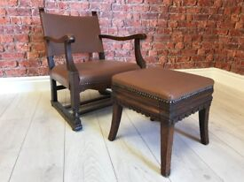 Children's Fireside Chair & Footstool