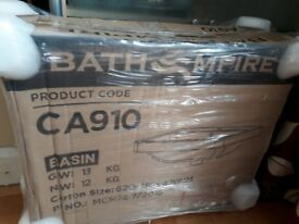 BNIB Bath Empire Modern vanity sink 600mm ceramic white