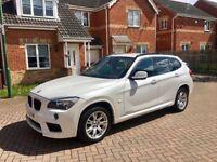 2012 BMW X1 XDRIVE 20D M SPORT WHITE, MILEAGE 67000, MOT FEB 2019