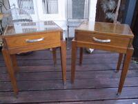 Pair of elegant side tables