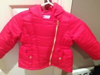 red shower resistant Tu red coat bnwt £14 3-4 years spotty inside