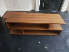 Wooden Heals TV Stand with Storage Shelves