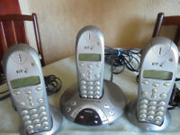 BT Freelance XD 1500 Triple Handset Phones with Answerphone