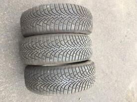 Goodyear ultra grip rotational winter tyres x3