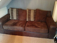 2 x brushed leather sofas need gone asap £100 no offers