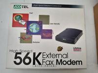 56k External Fax Modem