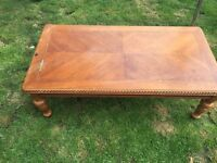Solid wood ornate coffee table