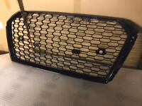 Audi RS3 Style Front Grill Black Quattro A3/S3 to RS3 Look 8V 2016-
