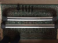 Volvo C30 Roof Bars, including lock key and rubber roof brackets