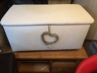 Reupholstered blanket box in Laura Ashley fabric