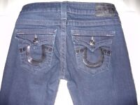 True Religion 'Billy' Womens Sequinned jeans Size 26, Excellent Condition !
