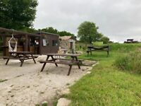 Caravan pitch with access to toilets and shower