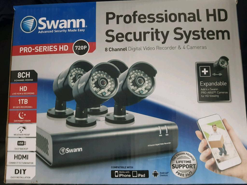 SWANN 720p 4 CCTV cameras and 1TB DVR | in Norris Green, Merseyside |  Gumtree