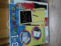 Childs chalk and magnetic board easel - brand new