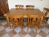 Country style Table and 6 chairs