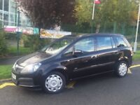 2007 VAUXHALL ZAFIRA 1.6 PETROL MANUAL BLACK ** LOW MILEAGE!!! ** 7 SEATER!!! **