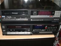 2 betamax video cassette recorders