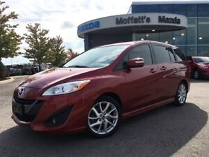 2016 Mazda MAZDA5 GT LEATHER, SUNROOF, HEATED SEATS