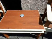Solid wood garden table and chairs