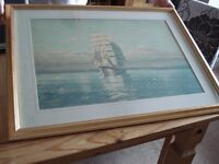 Framed Picture - Sailing Boat possibly Sea Clipper