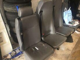 Van seats with built in seat belts and buckles , for crew van etc