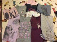 Bundle of Girls Tops & a Fleece Jacket 3 - 4 years