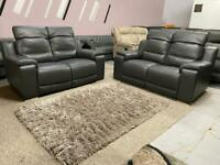 Beautiful Made in Italy electric recliner 2+2 seater sofa