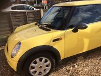 For sale yellow Mini One,12 months MOT,s.good condition throughout. Must be seen