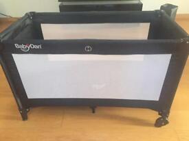 BabyDan Travel Cot with standard mattress plus Superior Foam Cot Mattress