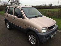 NOW SOLD 2005 Diahatsui Terios TRACKER 1.3 5dr 4X4 1yrs Mot 6mth warranty