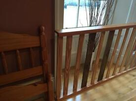 Wooden pine single bed frame