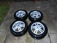 4 Ford alloy wheels complete with 195/60 R 15 tyres