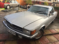 MERCEDES 280 SL x REG SILVER SPARES OR REPAIRS VERY OLD CLASSICS